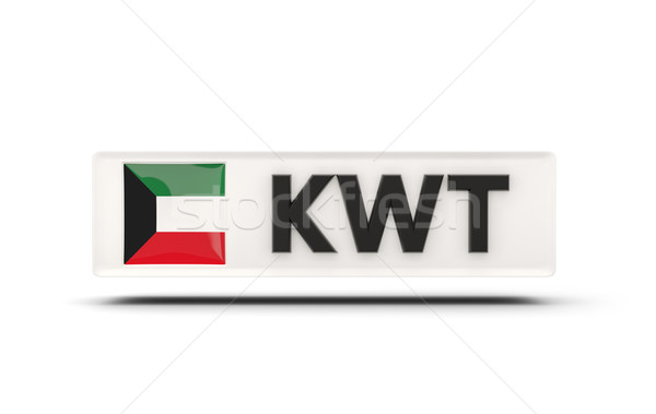 Vierkante icon vlag Koeweit iso code Stockfoto © MikhailMishchenko