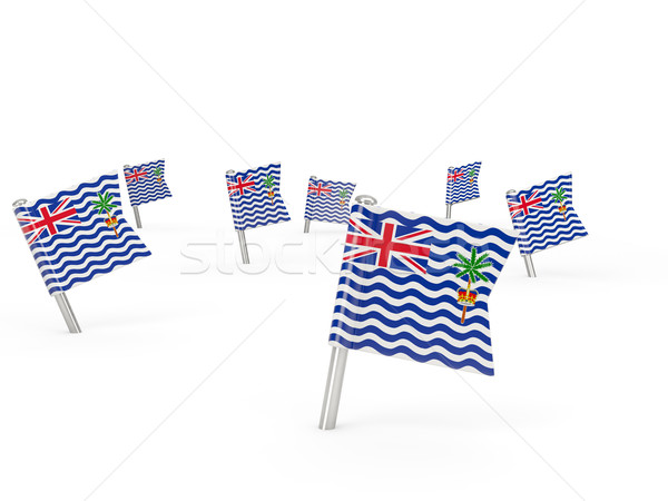 Square pins with flag of british indian ocean territory Stock photo © MikhailMishchenko