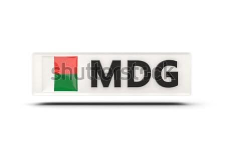 Szeretet Madagaszkár felirat izolált fehér zászló Stock fotó © MikhailMishchenko