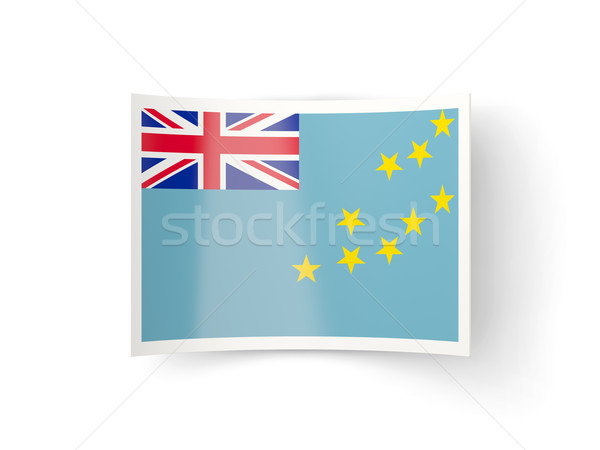 Bent icon with flag of tuvalu Stock photo © MikhailMishchenko