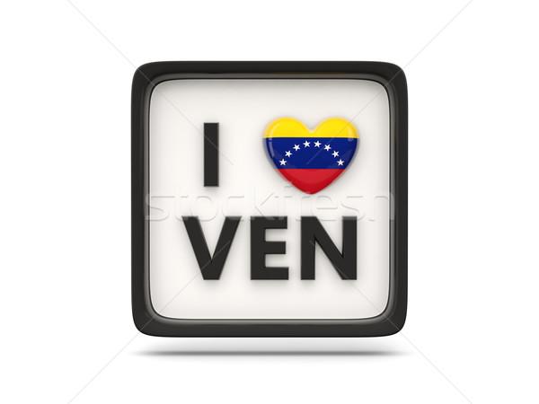 Szeretet Venezuela felirat izolált fehér zászló Stock fotó © MikhailMishchenko
