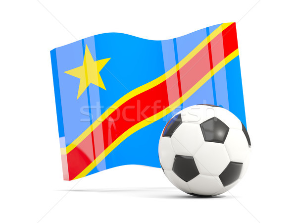 Football with waving flag of democratic republic of the congo is Stock photo © MikhailMishchenko