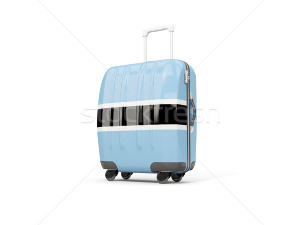 Bagages pavillon valise isolé blanche 3d illustration Photo stock © MikhailMishchenko