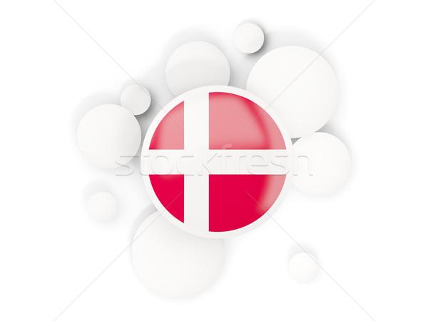 Vlag cirkels patroon geïsoleerd witte 3d illustration Stockfoto © MikhailMishchenko