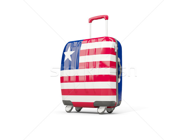 Luggage with flag of liberia. Suitcase isolated on white Stock photo © MikhailMishchenko