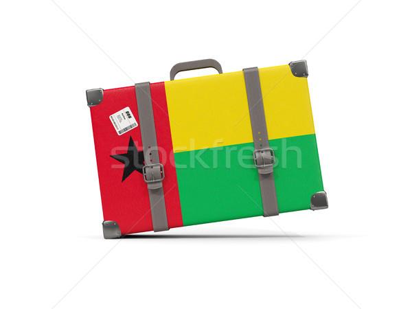 Камера флаг Гвинея чемодан изолированный белый Сток-фото © MikhailMishchenko