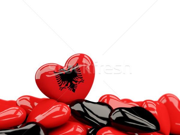 Heart with flag of albania Stock photo © MikhailMishchenko