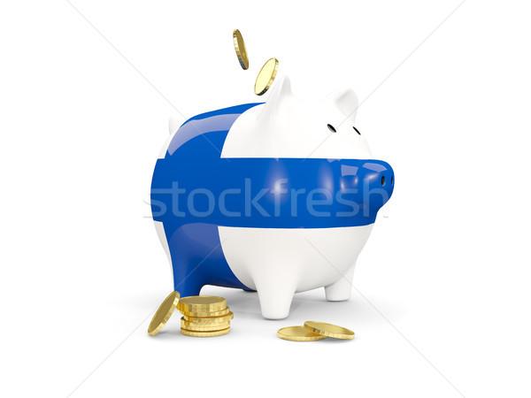 脂肪 貯金 フィンランド お金 孤立した 白 ストックフォト © MikhailMishchenko