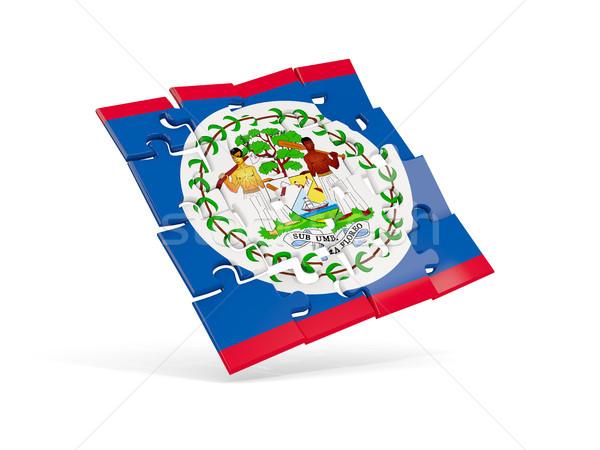 Puzzle zászló Belize izolált fehér 3d illusztráció Stock fotó © MikhailMishchenko