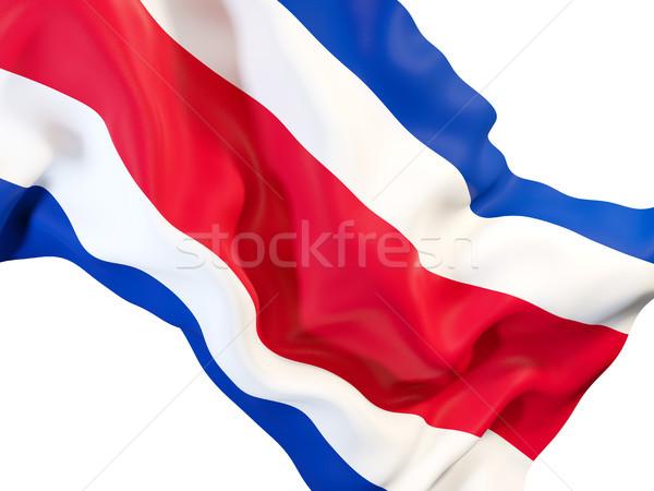 Bandera Costa Rica primer plano 3d viaje Foto stock © MikhailMishchenko