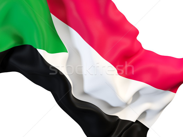 Integet zászló Szudán közelkép 3d illusztráció utazás Stock fotó © MikhailMishchenko