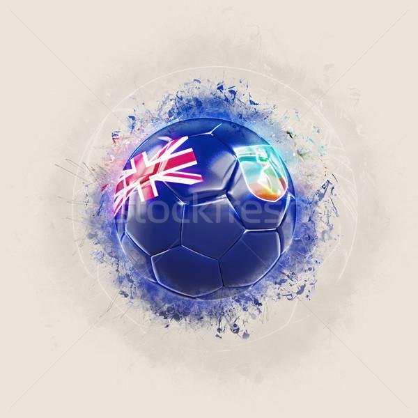 Grunge football with flag of montserrat Stock photo © MikhailMishchenko