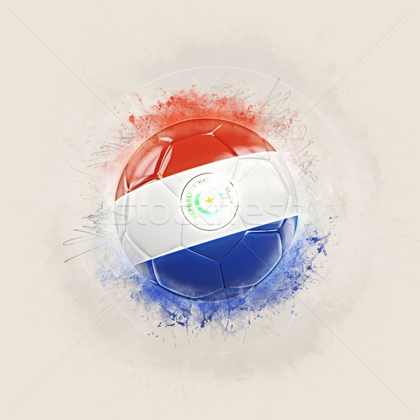 Grunge piłka nożna banderą Paragwaj 3d ilustracji świat Zdjęcia stock © MikhailMishchenko