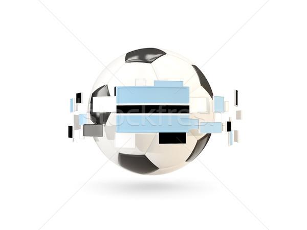 Soccer ball with line of flags. Flag of botswana Stock photo © MikhailMishchenko