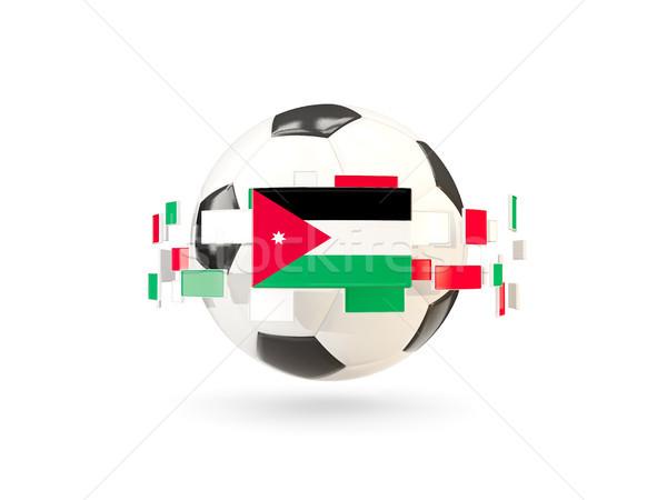 Voetbal lijn vlaggen vlag Jordanië Stockfoto © MikhailMishchenko