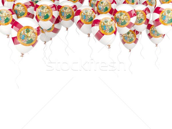 Balloons frame with flag of florida. United states local flags Stock photo © MikhailMishchenko