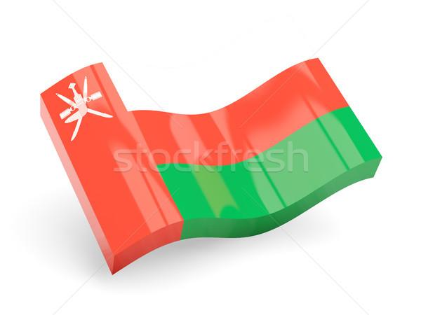 3D bayrak Umman yalıtılmış beyaz dalga Stok fotoğraf © MikhailMishchenko