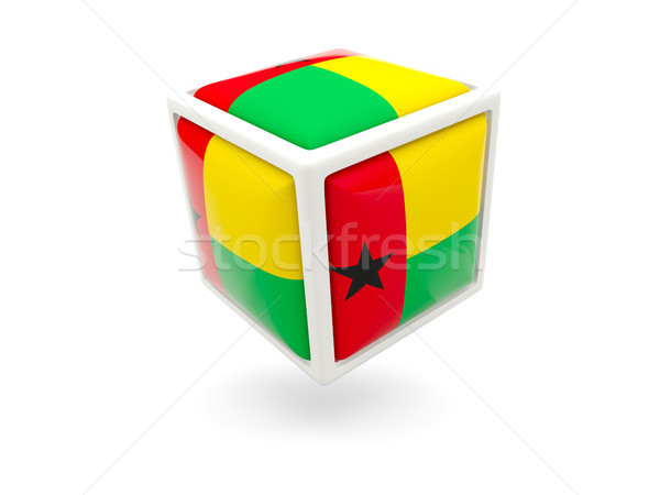 Flag of guinea bissau. Cube icon Stock photo © MikhailMishchenko