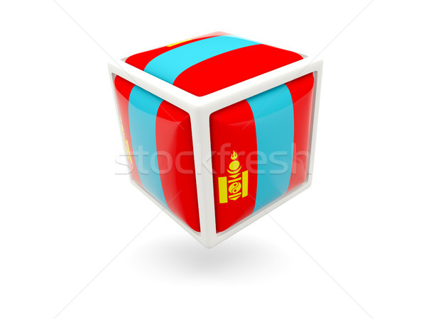 Flag of mongolia. Cube icon Stock photo © MikhailMishchenko