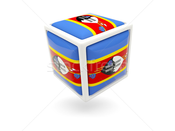 Flag of swaziland. Cube icon Stock photo © MikhailMishchenko