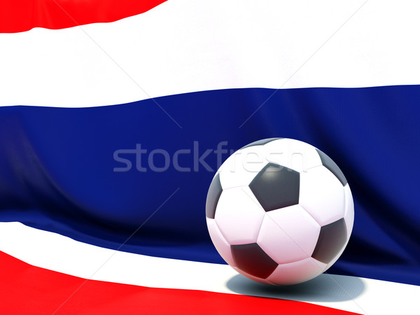 Flag of thailand with football in front of it Stock photo © MikhailMishchenko