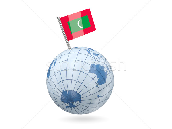 Globe with flag of maldives Stock photo © MikhailMishchenko
