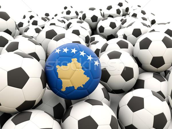 Futebol bandeira Kosovo regular verão Foto stock © MikhailMishchenko