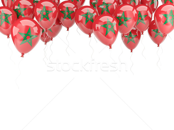 Balloon frame with flag of morocco Stock photo © MikhailMishchenko
