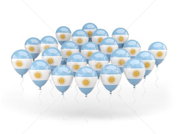 Léggömbök zászló Argentína izolált fehér vidék Stock fotó © MikhailMishchenko