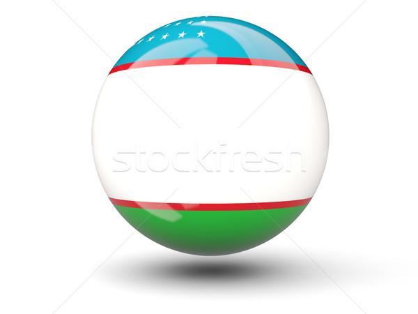 икона флаг Узбекистан изолированный белый путешествия Сток-фото © MikhailMishchenko