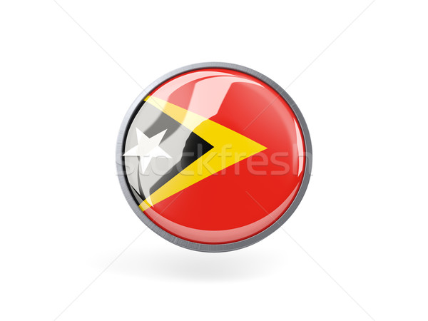 Round icon with flag of east timor Stock photo © MikhailMishchenko