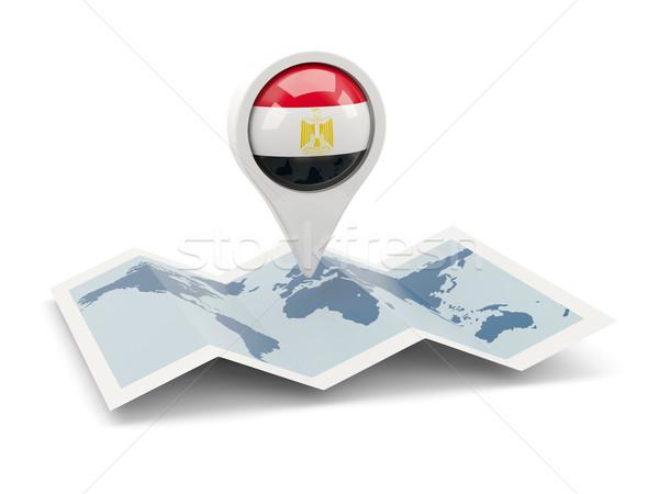 ピン フラグ エジプト 地図 旅行 白 ストックフォト © MikhailMishchenko