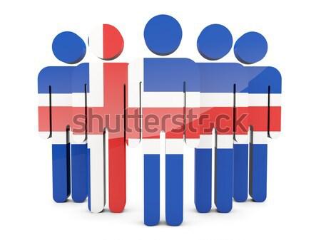 Stock fotó: Emberek · zászló · Panama · izolált · fehér · tömeg