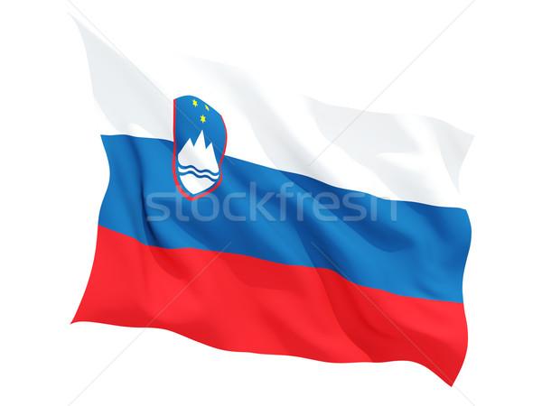 フラグ スロベニア 孤立した 白 ストックフォト © MikhailMishchenko
