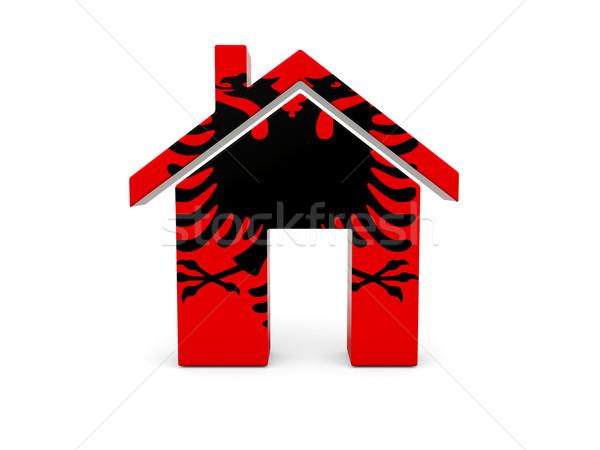 Home with flag of albania Stock photo © MikhailMishchenko