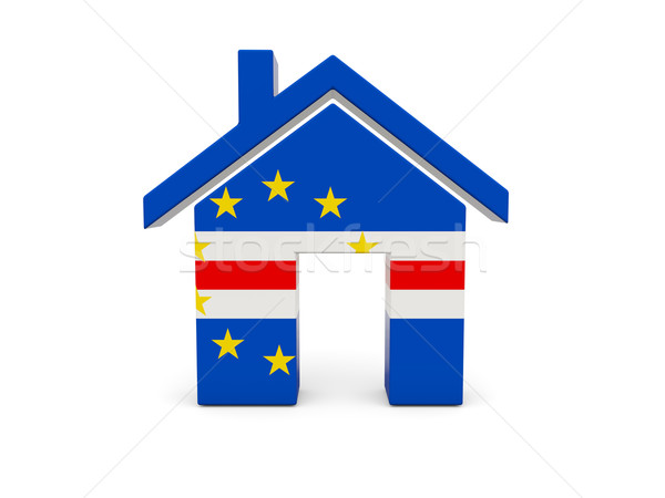 Stock photo: Home with flag of cape verde