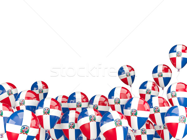 Flying balloons with flag of dominican republic Stock photo © MikhailMishchenko