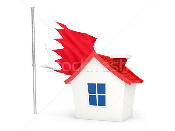 Ev bayrak Bahreyn yalıtılmış beyaz ev Stok fotoğraf © MikhailMishchenko