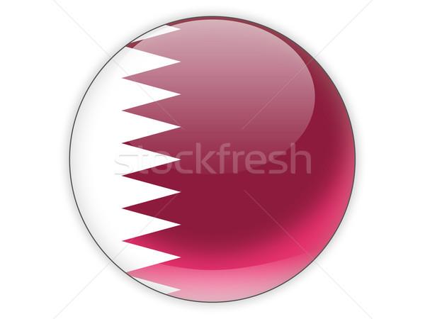 икона флаг Катар изолированный белый путешествия Сток-фото © MikhailMishchenko