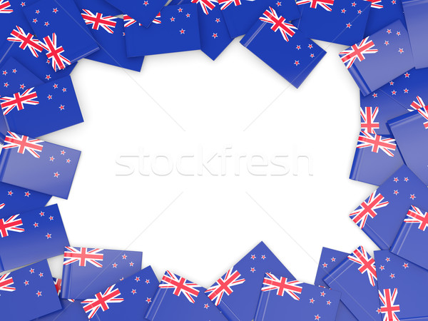 Marco bandera Nueva Zelandia aislado blanco Foto stock © MikhailMishchenko