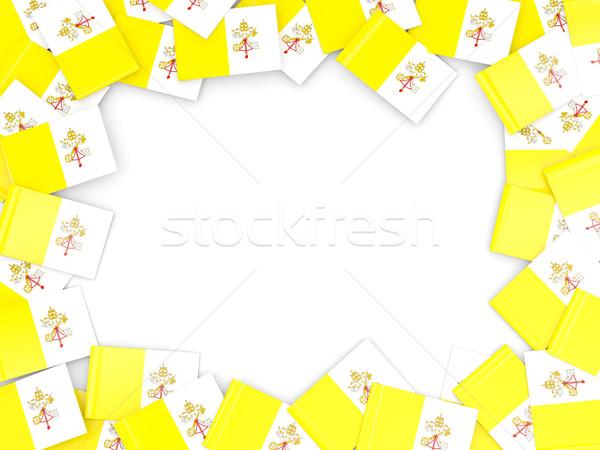 кадр флаг Ватикан изолированный белый Сток-фото © MikhailMishchenko