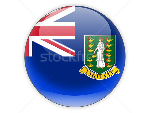 Icon vlag Virgin Islands brits geïsoleerd witte Stockfoto © MikhailMishchenko