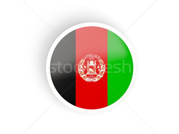 Aufkleber Flagge Afghanistan isoliert weiß Reise Stock foto © MikhailMishchenko