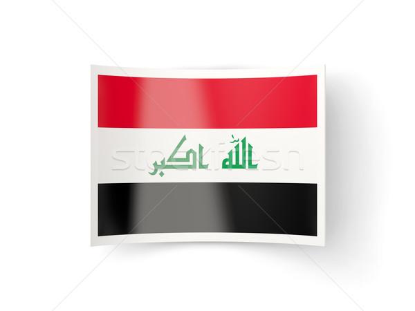 ícone bandeira Iraque isolado branco país Foto stock © MikhailMishchenko