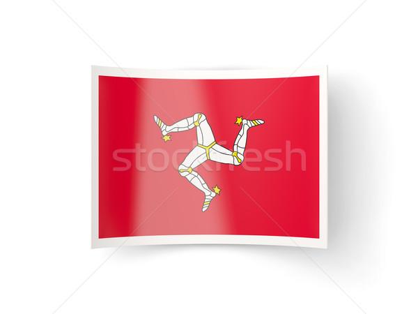 Bent icon with flag of isle of man Stock photo © MikhailMishchenko