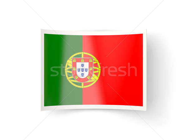 Bent icon with flag of portugal Stock photo © MikhailMishchenko