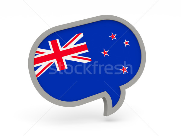 Chat icon with flag of new zealand Stock photo © MikhailMishchenko