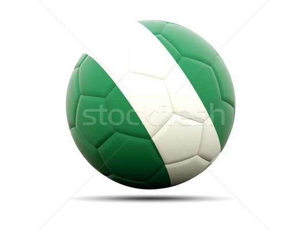 Futebol bandeira Nigéria ilustração 3d futebol esportes Foto stock © MikhailMishchenko