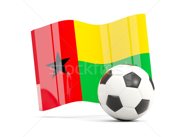 Football with waving flag of guinea bissau isolated on white Stock photo © MikhailMishchenko