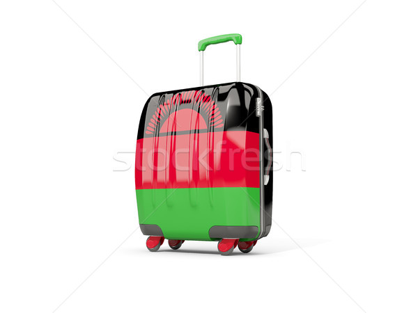 Luggage with flag of malawi. Suitcase isolated on white Stock photo © MikhailMishchenko